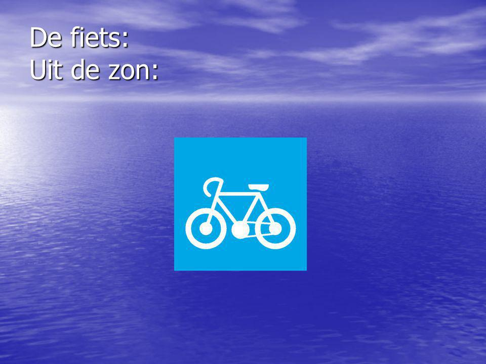 De fiets: Uit de zon: