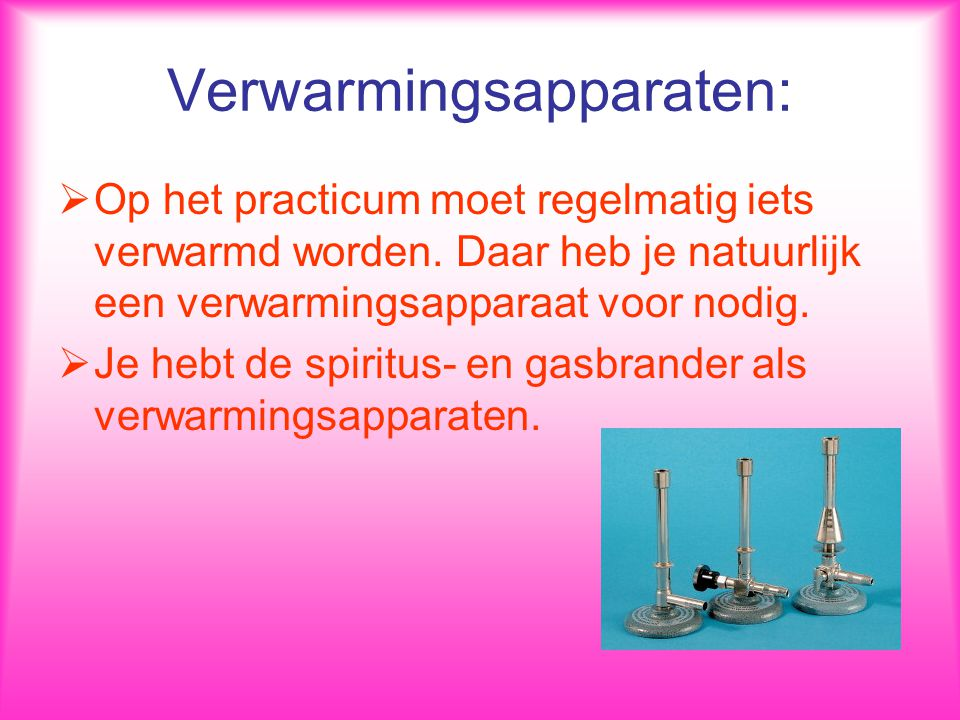 Verwarmingsapparaten:
