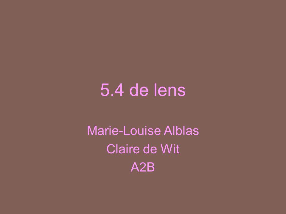 Marie-Louise Alblas Claire de Wit A2B