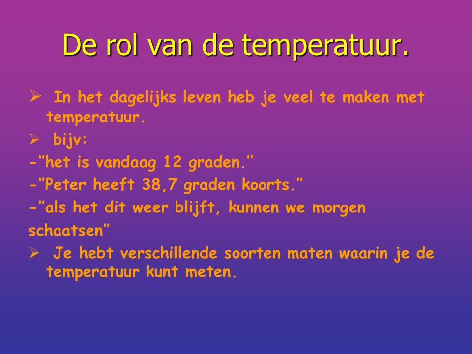 De rol van de temperatuur.