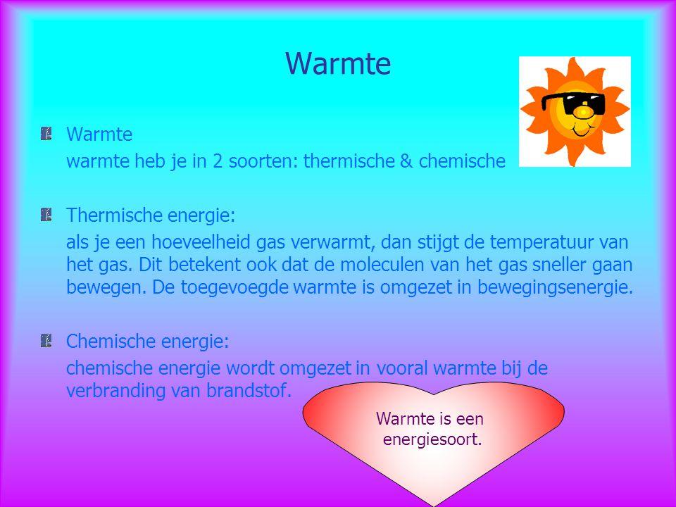 Warmte Warmte warmte heb je in 2 soorten: thermische & chemische