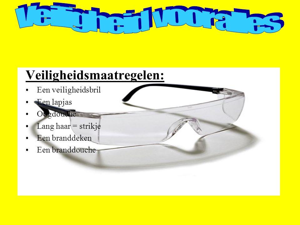 Veiligheid voor alles Veiligheidsmaatregelen: Een veiligheidsbril