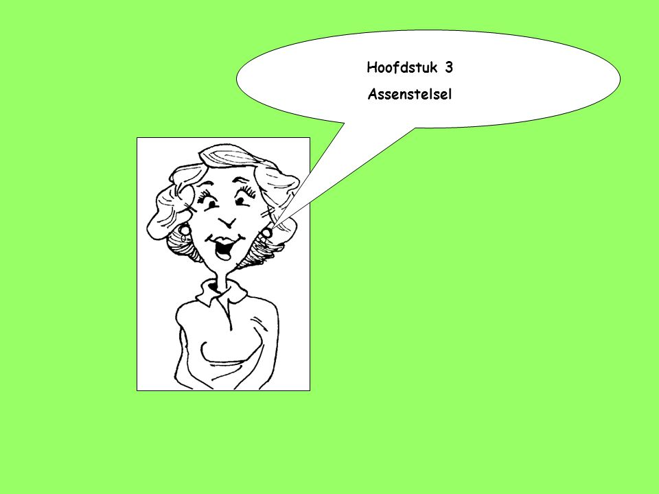 Hoofdstuk 3 Assenstelsel