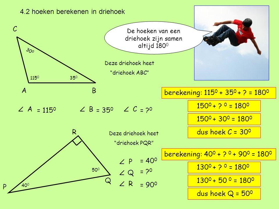 4.2 hoeken berekenen in driehoek