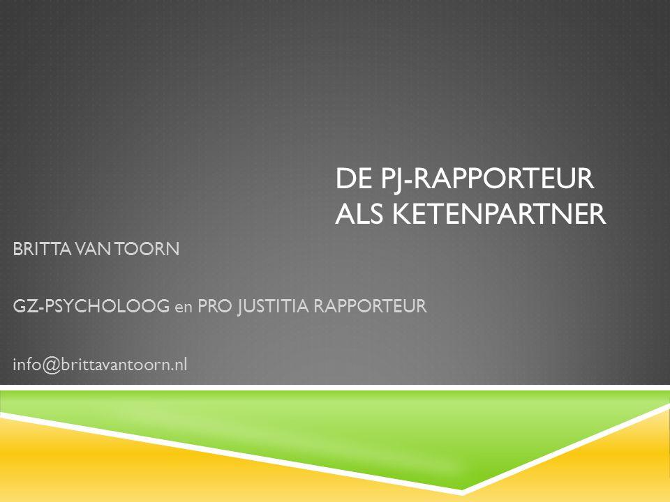 DE PJ-RAPPORTEUR ALS KETENPARTNER