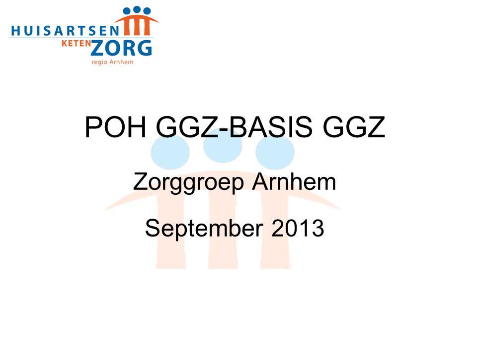POH GGZ-BASIS GGZ Zorggroep Arnhem September 2013 1