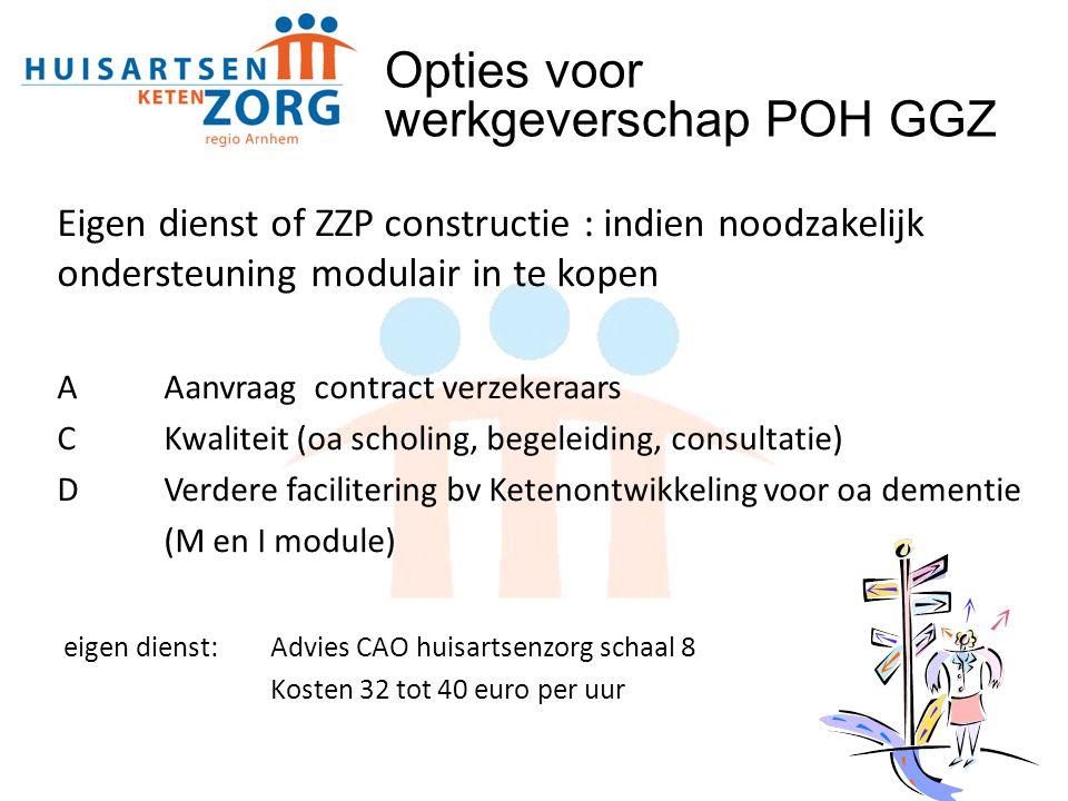 Opties voor werkgeverschap POH GGZ