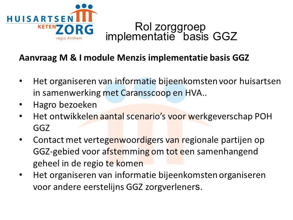 Rol zorggroep implementatie basis GGZ