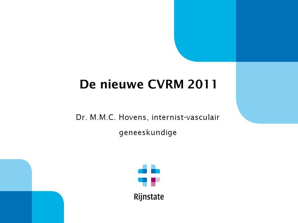 Dr. M.M.C. Hovens, internist-vasculair geneeskundige