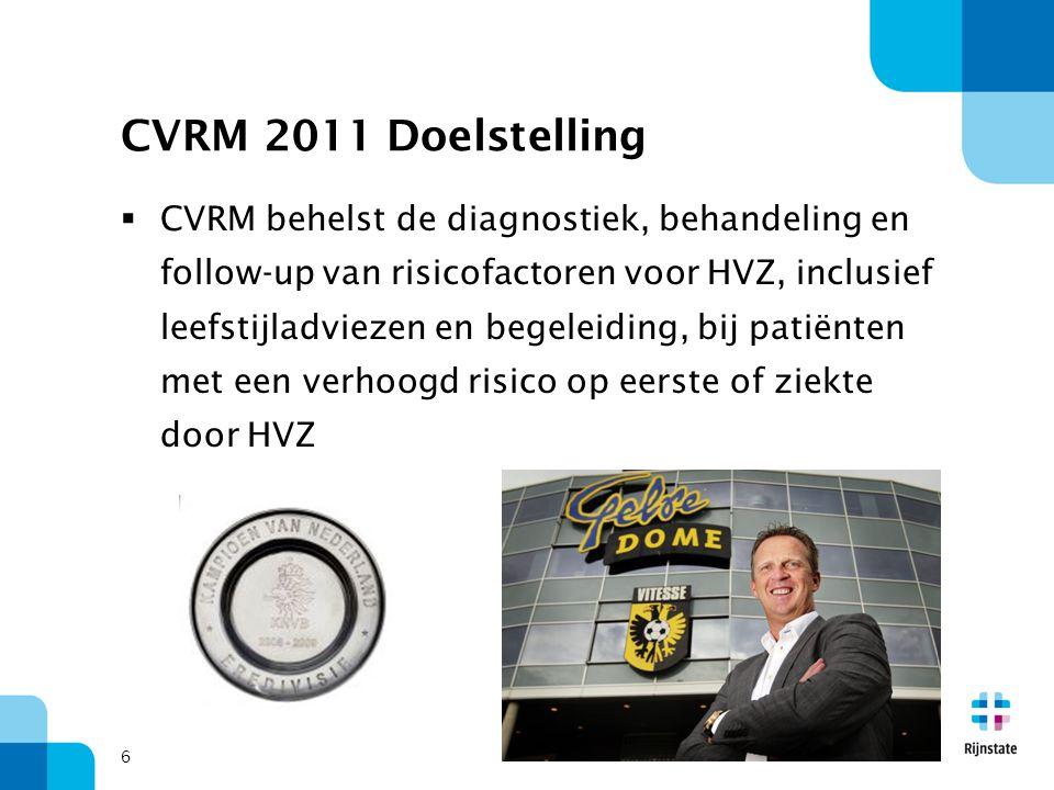 CVRM 2011 Doelstelling
