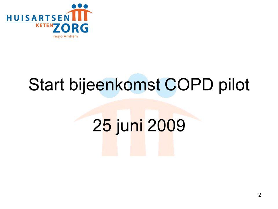 Start bijeenkomst COPD pilot 25 juni 2009