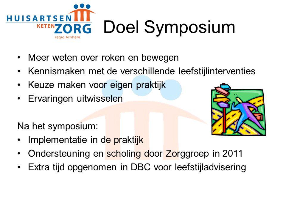 Doel Symposium Meer weten over roken en bewegen