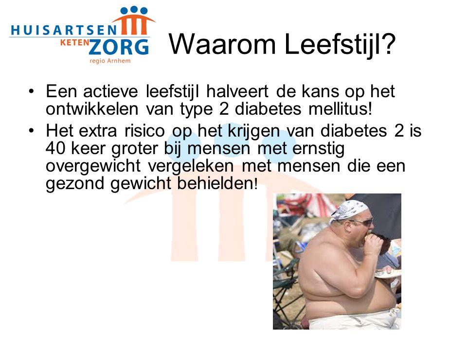 Waarom Leefstijl Een actieve leefstijl halveert de kans op het ontwikkelen van type 2 diabetes mellitus!
