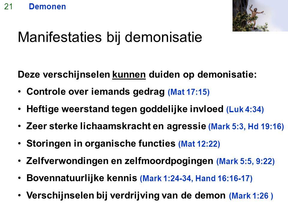 Manifestaties bij demonisatie