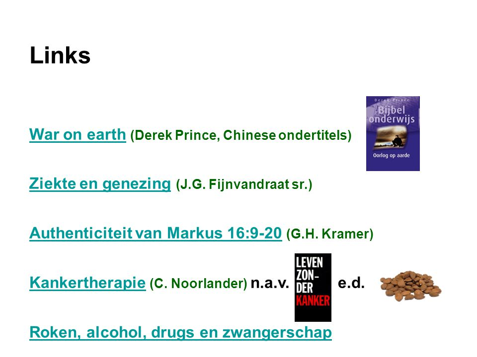 Links War on earth (Derek Prince, Chinese ondertitels)