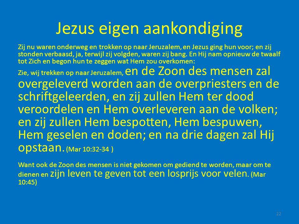 Jezus eigen aankondiging