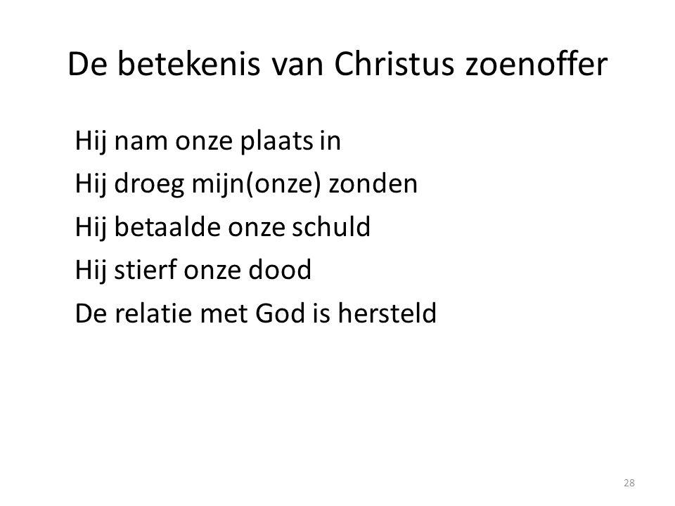 De betekenis van Christus zoenoffer
