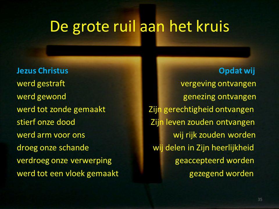 De grote ruil aan het kruis