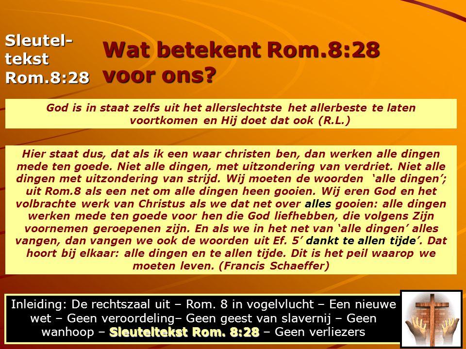 Wat betekent Rom.8:28 voor ons