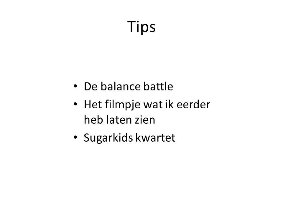 Tips De balance battle Het filmpje wat ik eerder heb laten zien