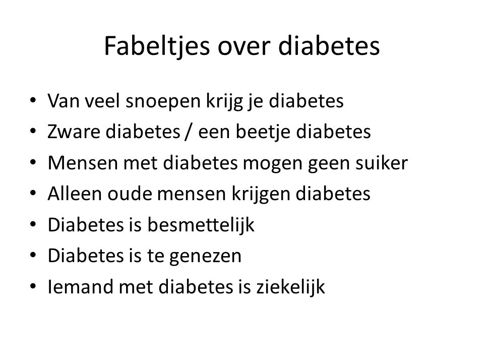 Fabeltjes over diabetes