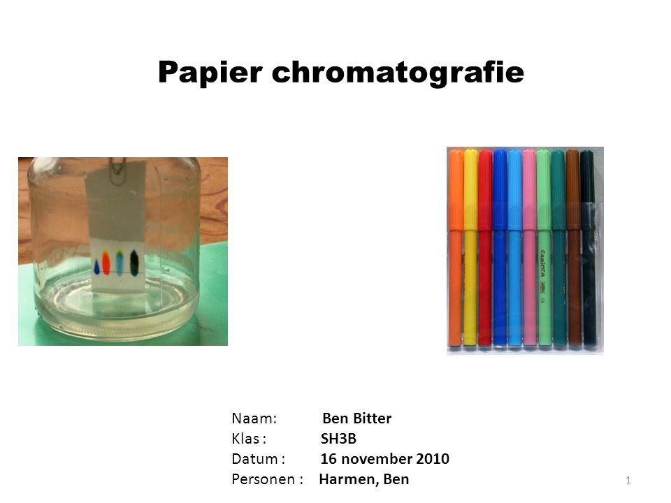 Papier chromatografie