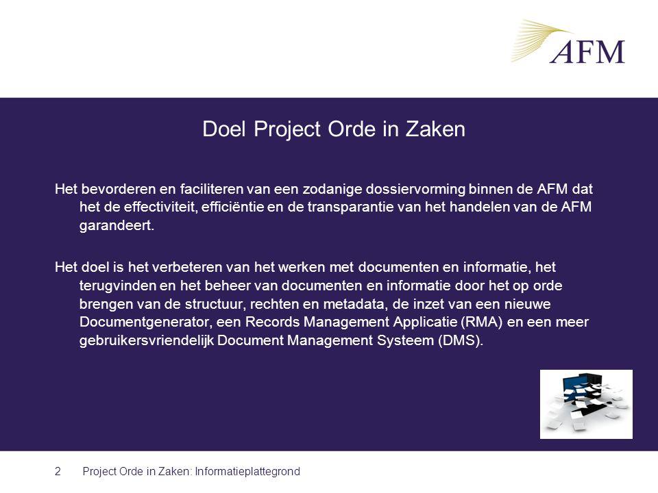 Doel Project Orde in Zaken