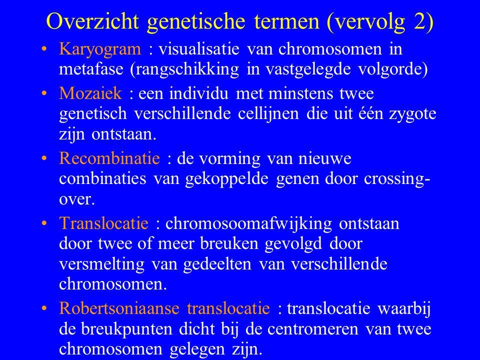 Overzicht genetische termen (vervolg 2)