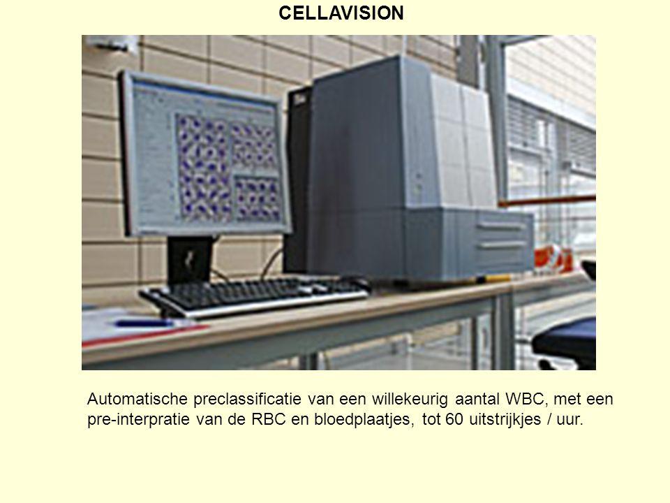 CELLAVISION Automatische preclassificatie van een willekeurig aantal WBC, met een.