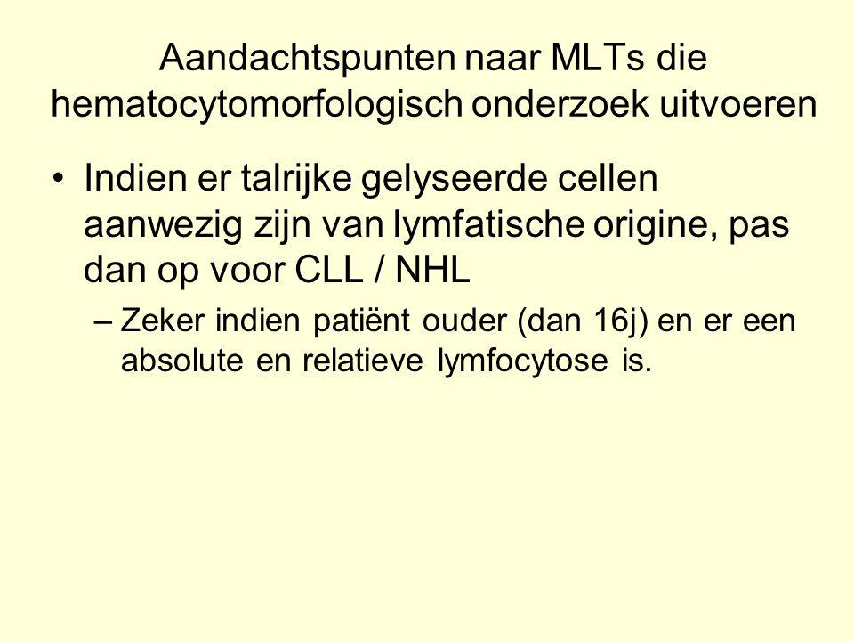 Aandachtspunten naar MLTs die hematocytomorfologisch onderzoek uitvoeren