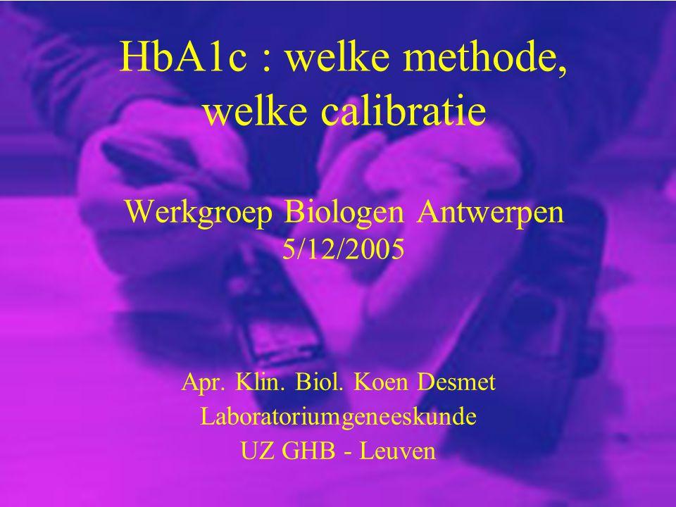 Apr. Klin. Biol. Koen Desmet Laboratoriumgeneeskunde UZ GHB - Leuven