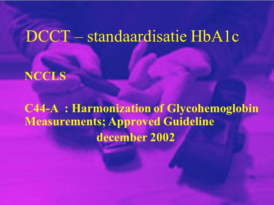 DCCT – standaardisatie HbA1c