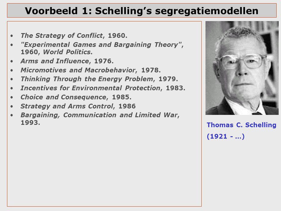 Voorbeeld 1: Schelling's segregatiemodellen