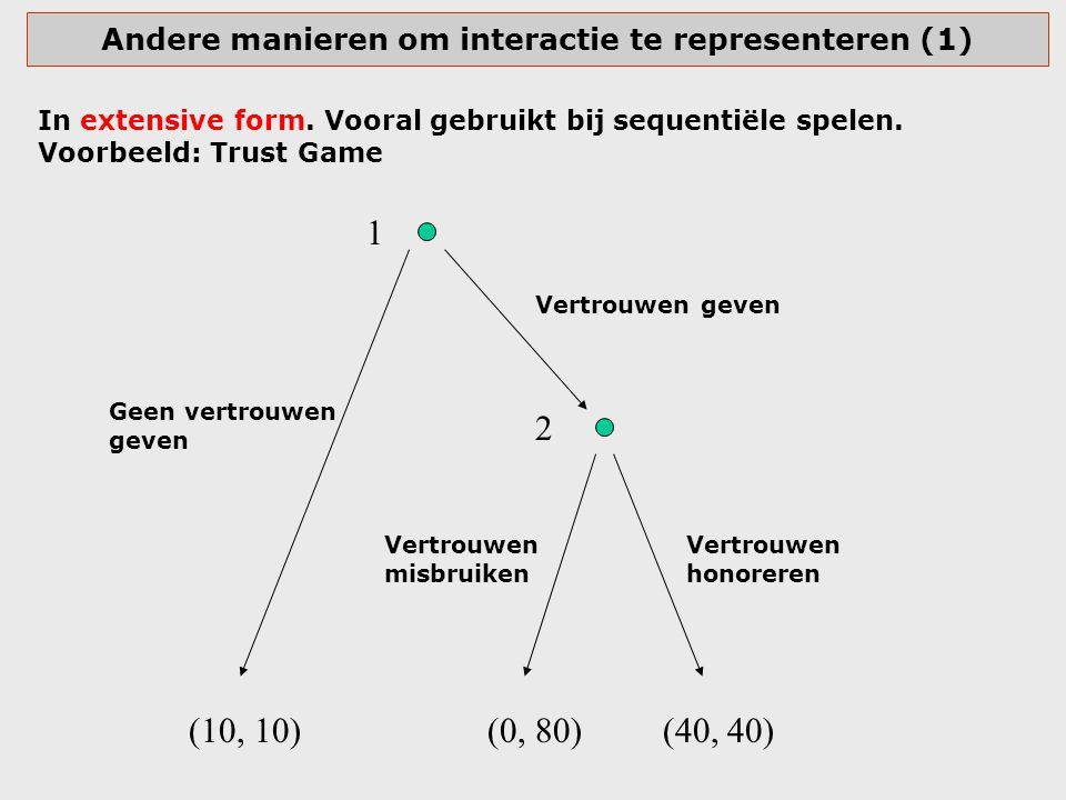 Andere manieren om interactie te representeren (1)