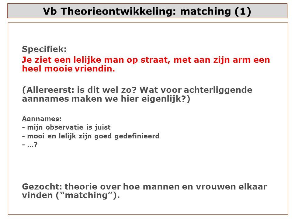 Vb Theorieontwikkeling: matching (1)