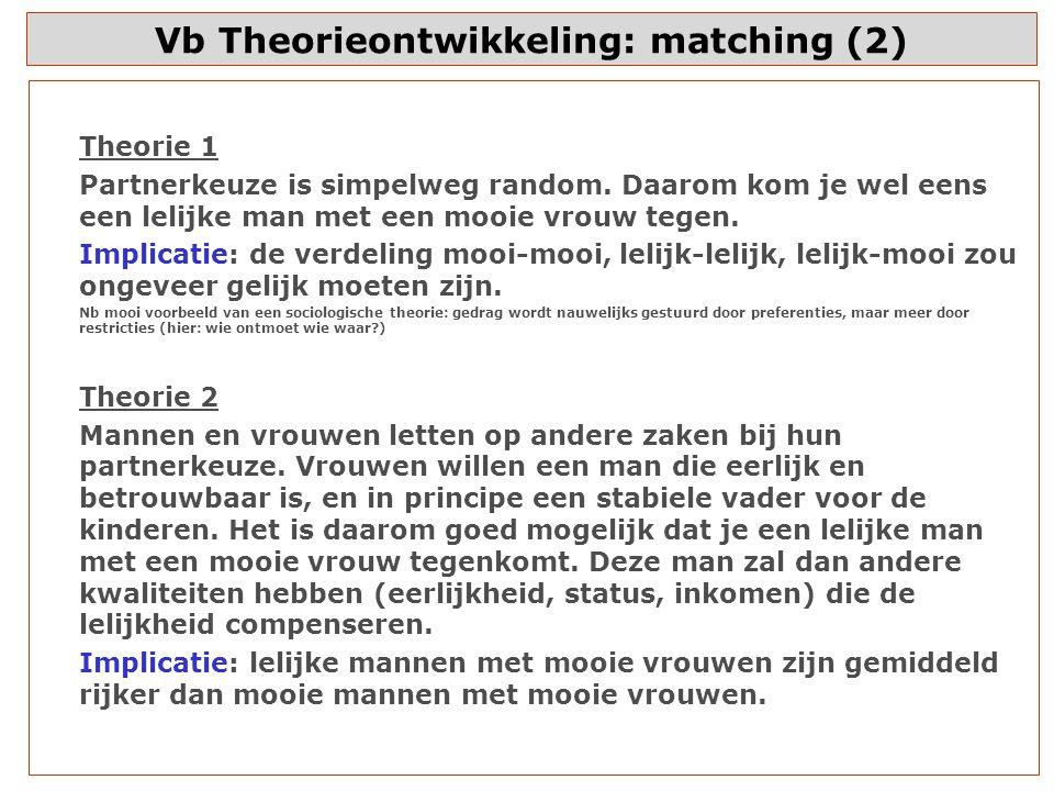 Vb Theorieontwikkeling: matching (2)