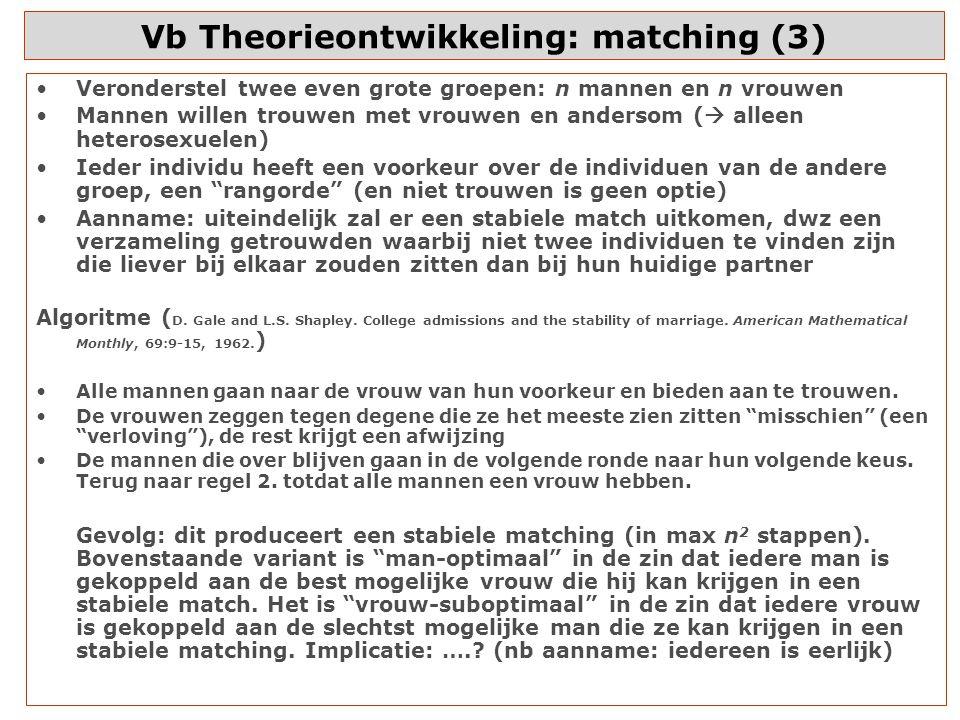 Vb Theorieontwikkeling: matching (3)