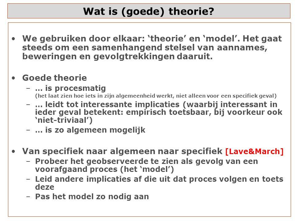 Wat is (goede) theorie