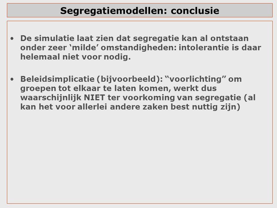 Segregatiemodellen: conclusie