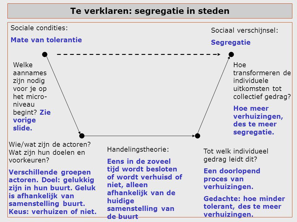 Te verklaren: segregatie in steden