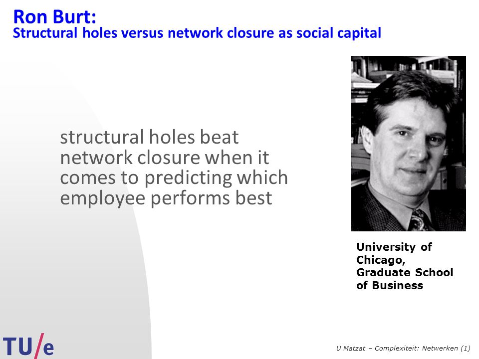 Ron Burt: Structural holes versus network closure as social capital