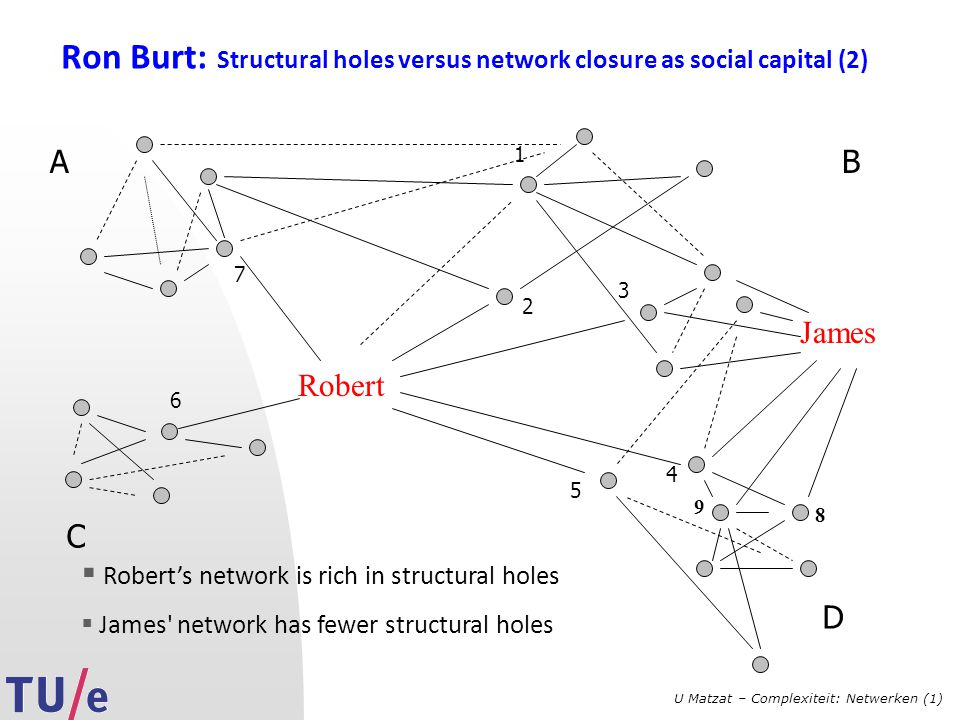 Ron Burt: Structural holes versus network closure as social capital (2)