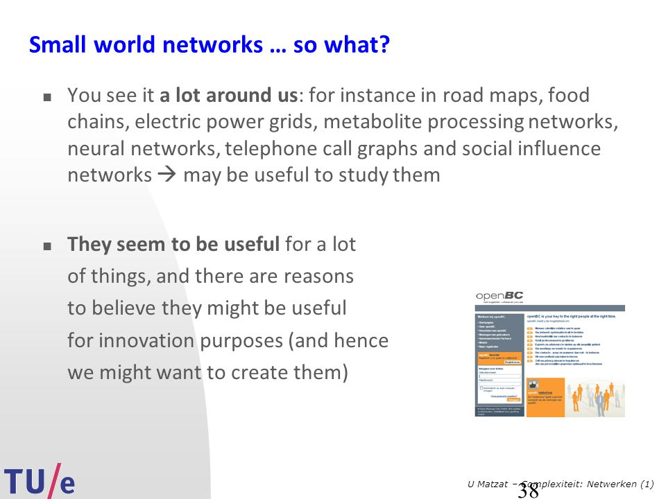 Small world networks … so what
