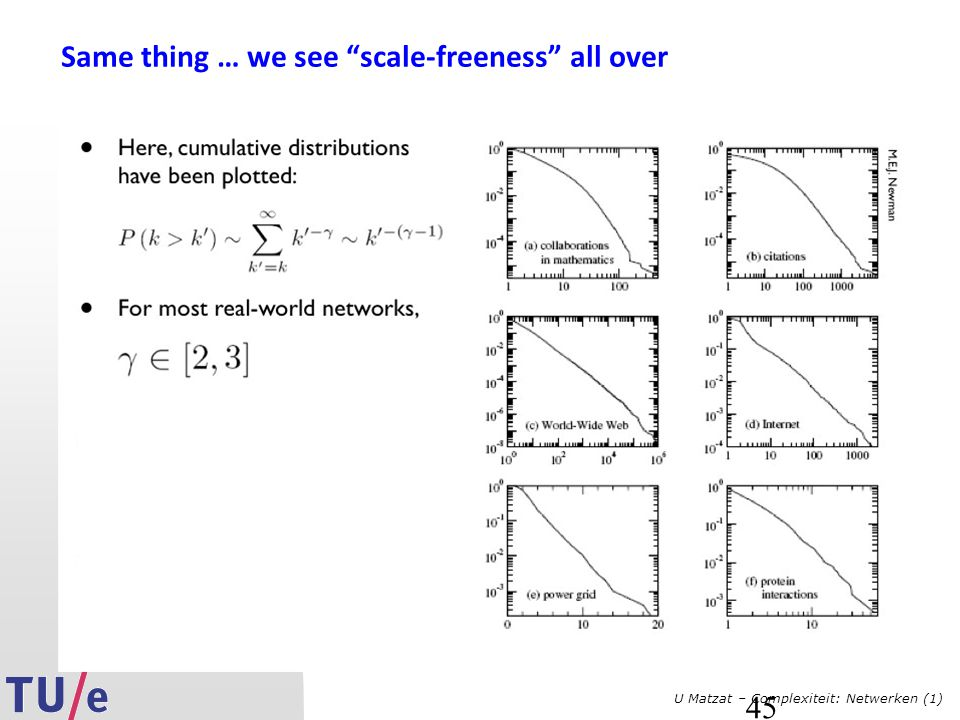 Same thing … we see scale-freeness all over