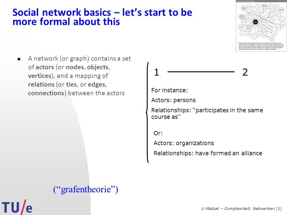 Social network basics – let's start to be more formal about this