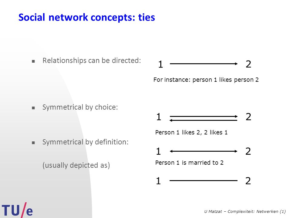 Social network concepts: ties