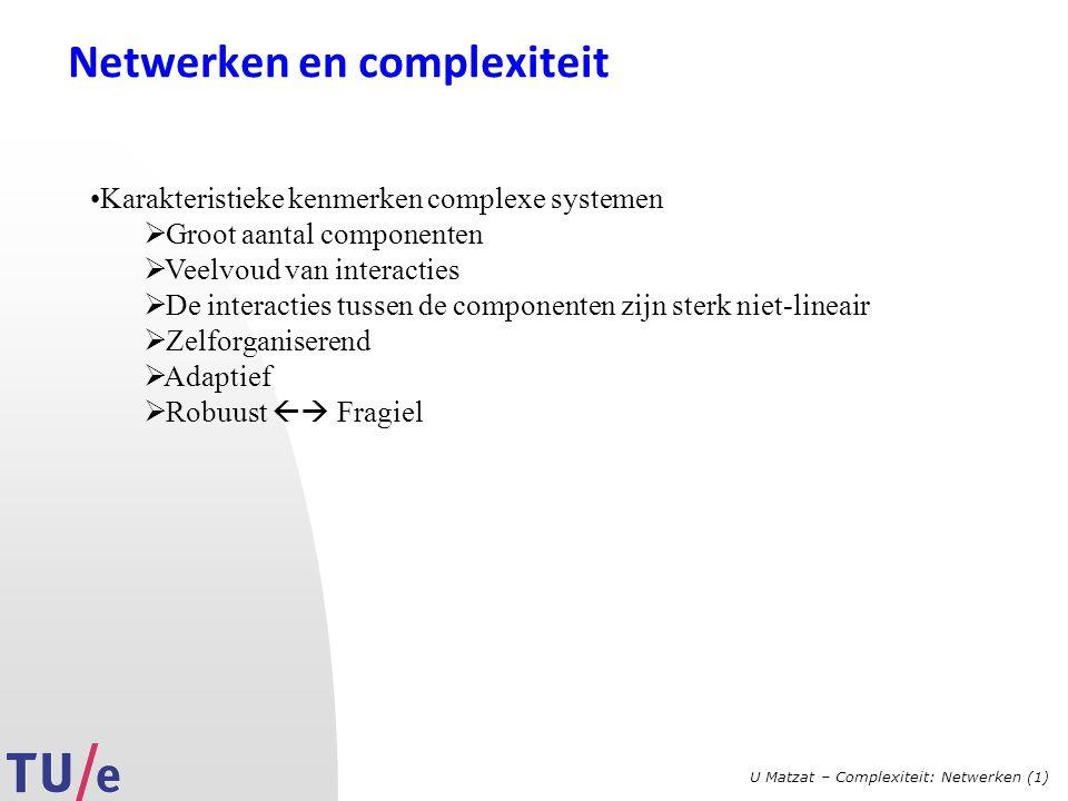 Netwerken en complexiteit