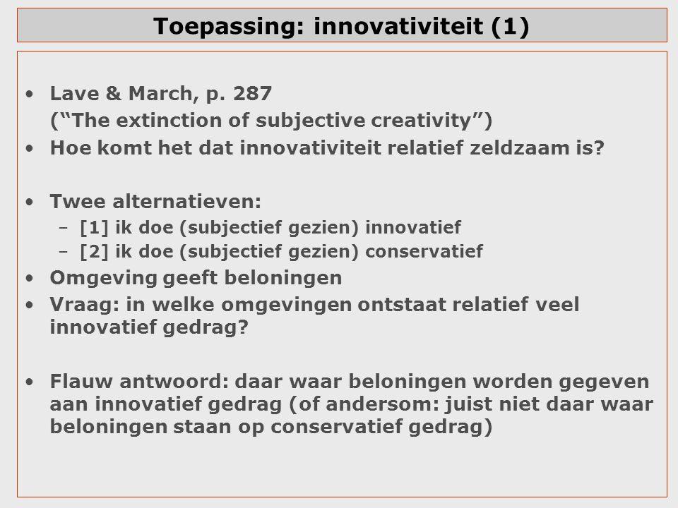 Toepassing: innovativiteit (1)