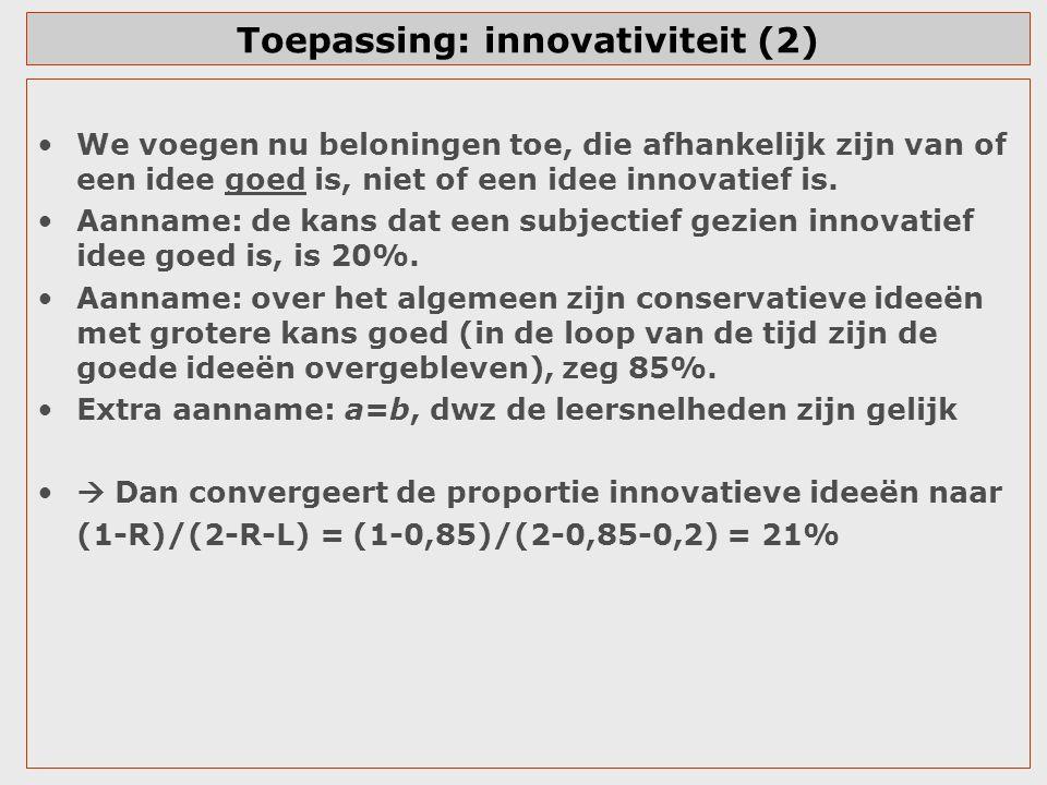 Toepassing: innovativiteit (2)