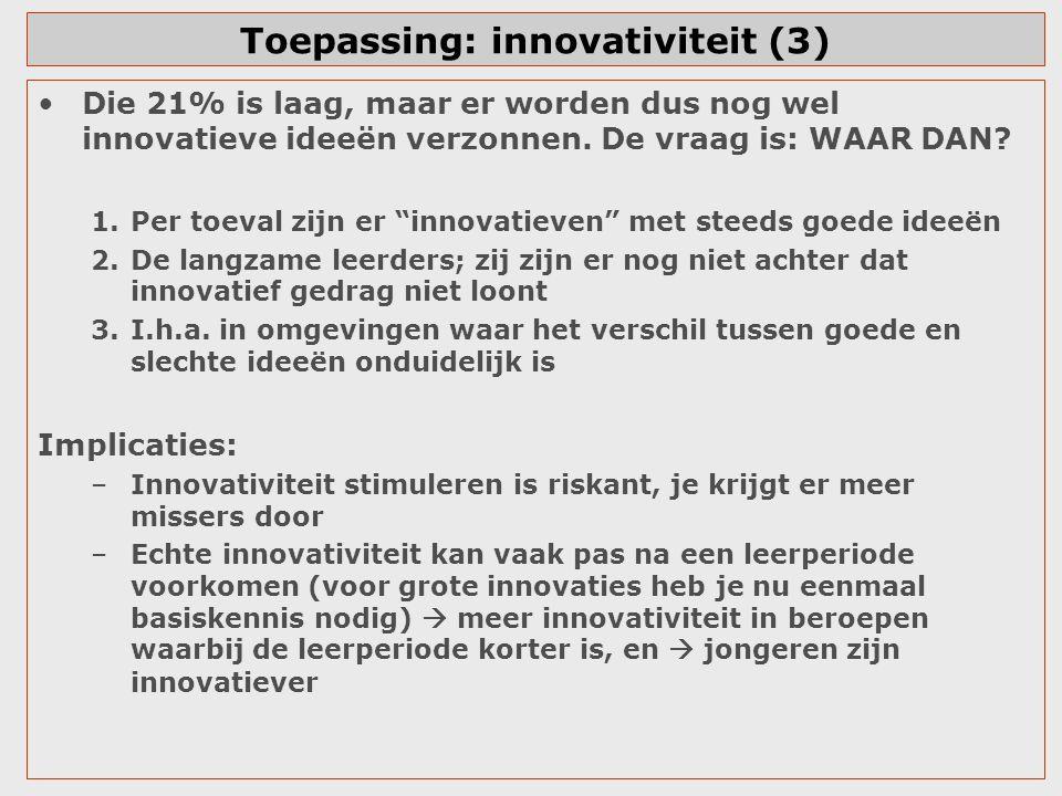 Toepassing: innovativiteit (3)